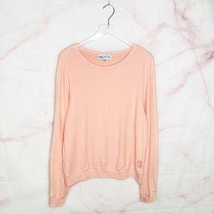Wildfox Baggy Beach Jumper Peach Sweatshirt